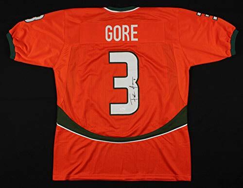 Frank Gore Autographed Signed Memorabilia Miami Hurricane Jersey - JSA Authentic ()
