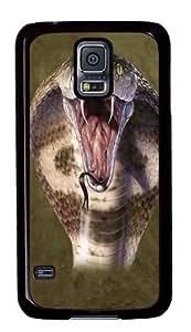 Cobra Snake Custom Samsung Galaxy S5/Samsung S5 Case Cover Polycarbonate Black