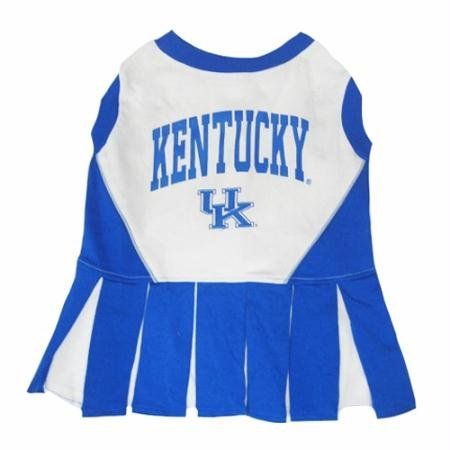 Pets First Kentucky University Dog Cheerleader Outfit, Small