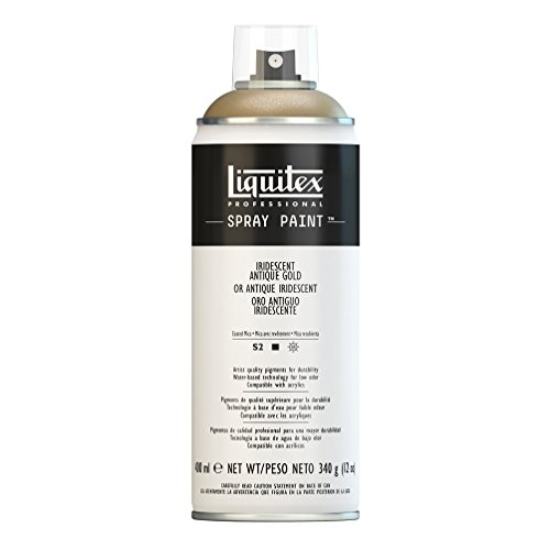 Liquitex 4450237 Professional Spray Paint 12-oz, Iridescent Antique Gold