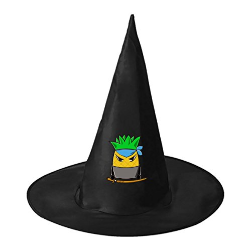 Homemade Girls Ninja Costumes (Pineapple Ninja Conical Cosplay Witch Hat Toy to Halloween Costume Ball for Unisex Kids Adults)