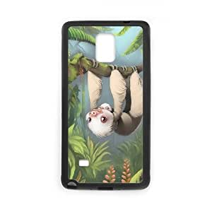 Samsung Galaxy Note 4 Cell Phone Case Black Sloth with Baby Ubxjg