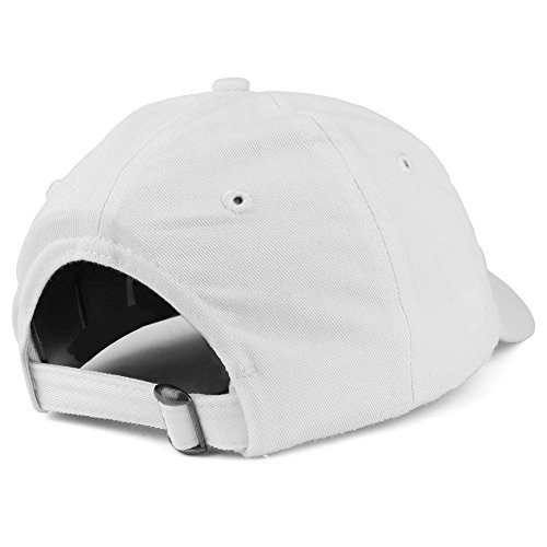 Trendy Apparel Shop Youth Small Fit Bio Washed Unstructured Cotton Baseball Cap - White by Trendy Apparel Shop (Image #2)