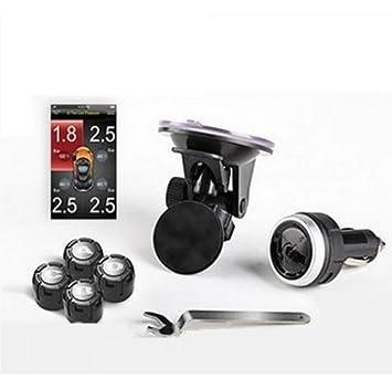 Spy - Sensores de presión de neumáticos TPMS para controlar Mediante un Smartphone con 4 sensores externos: Amazon.es: Electrónica