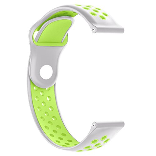 Insaneness Double Color Sport Soft Silicone Strap Wristband For Xiaomi Huami AMAZFIT 2/2S (Light Green)