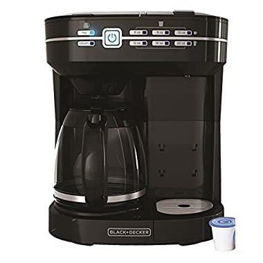 BLACK+DECKER CM6000B Cafe Select Dual Brew Coffeemaker, Black