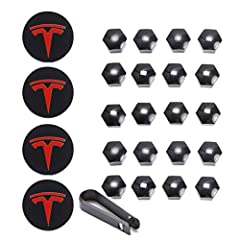 The center hub caps specially design for Tesla. Fit all Tesla Model 3, Model S and Model X.