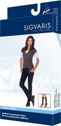 (230 Cotton Series 30-40 mmHg Women's Closed Toe Knee High Sock Size: Medium Short, Color: Black Mist 14)