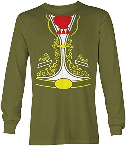 Tcombo Mariachi Costume - Funny Mexican Outfit Unisex Long Sleeve Shirt (Olive, Large)