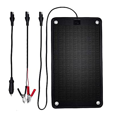PowerEZ 24Volt 10 Watts Solar Battery Charger for Trolling Motor, Boat, RV & Marine, 0.28 Amp Trickle Solar Charger, Self Regulating-No Experience Plug & Play Design, Dimension:16.14 X 9.13x0.31inch : Garden & Outdoor