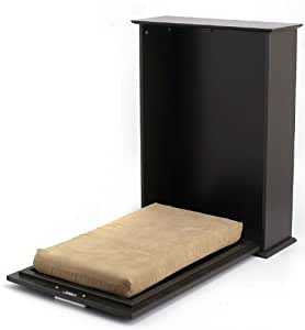 Homezone Murphy Bed for Small Pets up to 25 lbs, Espresso