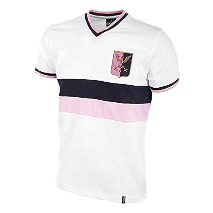 fc7d4d68b Copa Classics Palermo Away 1970  s Short Sleeve Retro Football Soccer T- Shirt