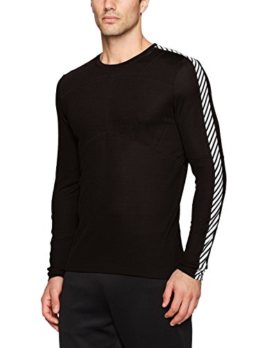 (Helly Hansen Men's HH Lifa Crew Baselayer Top, Black, Large)