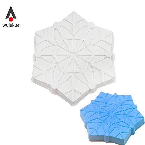 Cookie Cutter|Cake Molds|Silicone Snowflake Christmas Cake Mold Decorating Baking Pan Tools For Mousse Cube Cakes Mould|By -