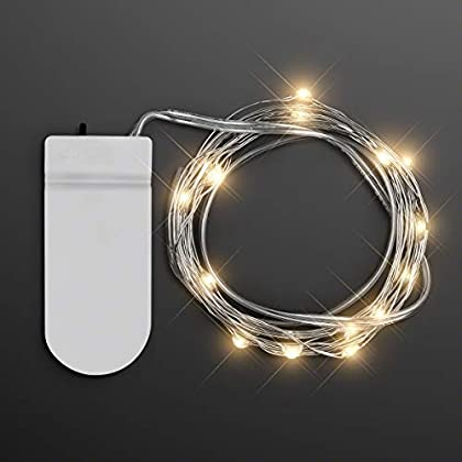 80″ Warm White LED Battery Operated Craft String Lights
