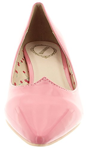 bND057 kitten Banned rose bonbon pumps heel vILMA gtnq7