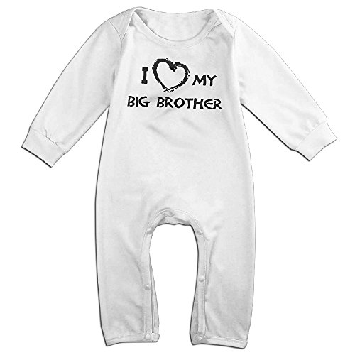 Love On Top Beyonce Costume - Newborn Baby I Love My Big Brother Long Sleeve Climb Romper 12 Months White