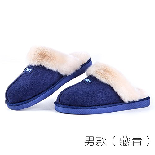 LaxBa Femmes Hommes chauds dhiver Chaussons peluche antiglisse intérieur Cotton-Padded Chaussures Slipper modèles masculins (Tibetan Youth)270 (39-40 mètres)