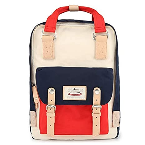 73034d9862 Image Unavailable. Image not available for. Color  Himawari Backpack Waterproof  Backpack 14.9 quot  College Vintage Travel Bag ...