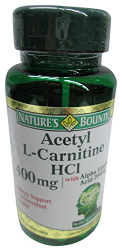 Nature's Bounty Acetyl L Carnitine, 400 mg, with Alpha Lipoic Acid 200 mg, 30 Capsules (Pack of 2)