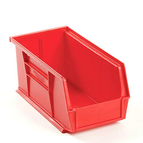 - Stacking Storage Drawer Organizer Rack - Plastic Stacking And Hanging Parts Bin 5-1/2 x 10-7/8 x 5, Red, 12 Count