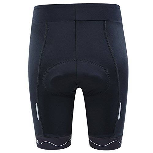 NOOYME (Cycling Season Deal) Padded Bike Shorts Women 3D Padding Bicycle Womens Cycling Shorts (Black, Medium) by NOOYME (Image #2)