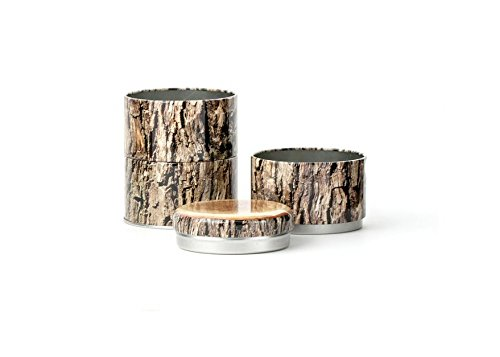 Kikkerland Stacking Wood Tin (Tin Stacking)