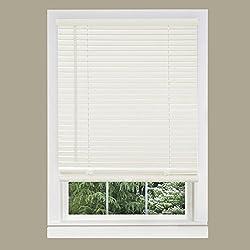 Achim Home Furnishings Morning Star Mini Blinds, 17 by 64-Inch, White