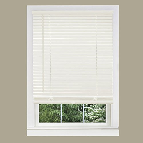 achim home furnishings 1 inch wide window blinds 29 by 64 inch white - Window Blinds Online