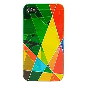 Modelo colorido formas irregulares de nuevo caso para el iPhone 4/4S