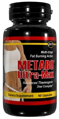 Metabo Ultra-Max Extreme Diet Pills Fat Burner - 60 Caps