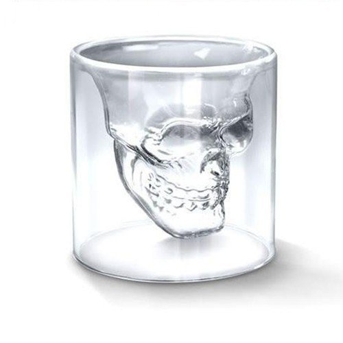 ACE 1pc Crystal Skull Head Vodka Shot Glass Drinking Ware Home Bar