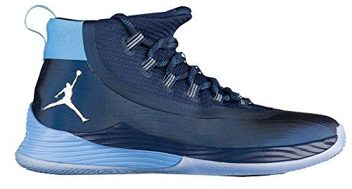 Nike Jordan Ultra Fly 2 Mens 897998-405 Blu Notte / Argento Metallizzato