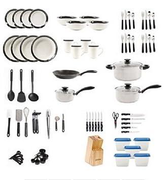 Beautiful Large Kitchen Combo Set. This 83 Piece Kitshen Starter Set Has Everything  You Need.