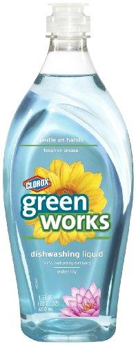 Lily Dish - Green Works Natural Dishwashing Liquid, 22 fl oz Bottle, Water Lily