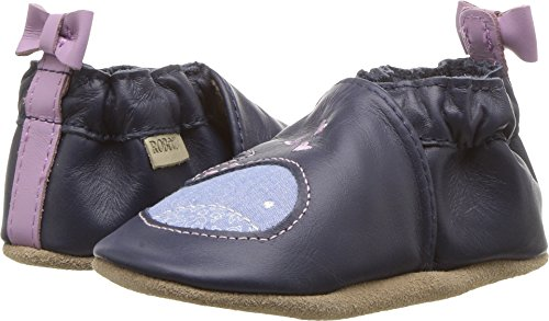 oles with Bow Back Crib Shoe, Poppy Whale-Navy, 0-6 Months M US Infant (Girls Whale)