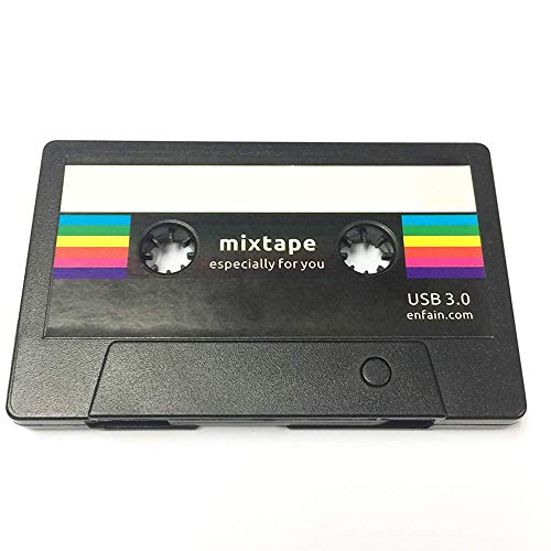 Enfain USB 3.0 Flash Drive 16GB Retro Mixtape USB Memory Stick Creative Cassette Tape Design, Thoughtful Gifts for Husband, Boyfriend on Valentines Day, Anniversary, Birthday