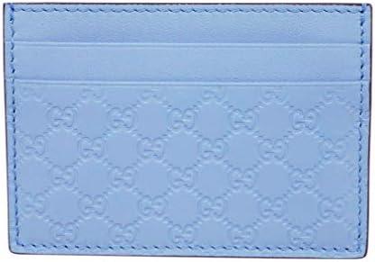 【アウトレット】グッチ カードケース 476010-4503 GUCCI シンプル名刺 マイクログッチッシマ ライトブルー [並行輸入品]