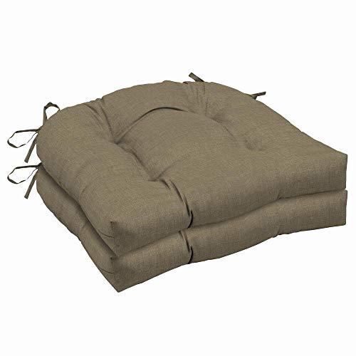 Sandstone Dining Sunbrella - Arden Selections 20 x 18 Sandstone Leala Texture Outdoor Seat Cushion (2-Pack)