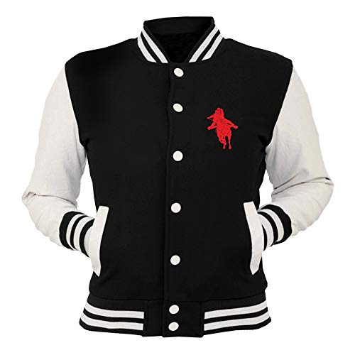 T T Horse Shirtshock College Giacca Giacca Rider FUN1866 Nera 0xap6w0q