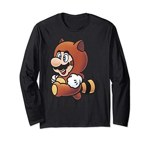 (Nintendo Super Mario Tanooki Suit Jump Long Sleeve Tee)