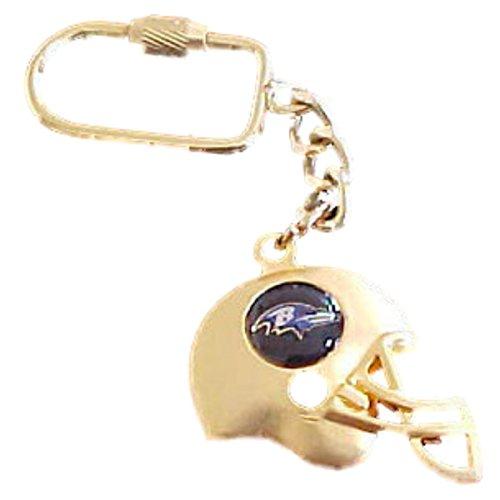 Helmet Keychain Logo (Peter David Baltimore Ravens Gold Helmet Team Logo Keychain)