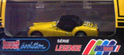 Jouef 1010 Triumph TR3A - Soft Top - Yellow with Black Top - Left Hand Drive - Legend Series - 1:43 Scale Diecast
