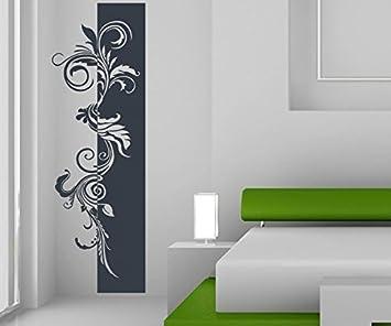 Wandtattoo Banner Blumen Ranke Blätter Floral Deko Streifen Blüten Flur  Wandaufkleber Wohnzimmer Wand Aufkleber 1U234,