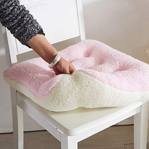 Winter Thicken Warm Lamb Cashmere Seat Cushion Soft Chair Office Bar Pillows Comfortable Floor Cushions 1Pc