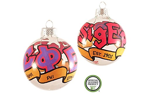 Whimsical Sigma Phi Epsilon Ornament - Phi Sigma Glass