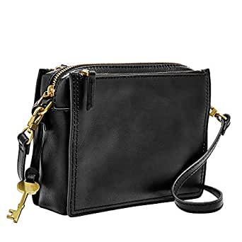 Fossil Campbell Large Crossbody, Black