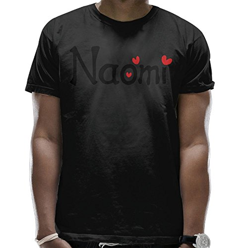 Flyback Name Naomi TXT hearts Vector Graphic Line Art Fashion Men's Round Collar Short Sleeves