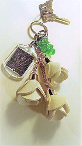 Great Graduation Gift! SAME DAY SHIPPING Before 12pm Key Chain Bag Charm fashioned w Louis Vuitton upcycle. Great Gift! Item #112 ()