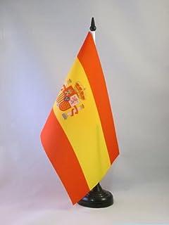 AZ FLAG Bandera de Mesa ESPAÑA Republicana con Escudo 21x14cm ...